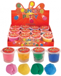 12 x Tubs of Mouldable Bouncy Putty