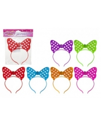 24 x Light Up Bow Headbands