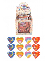 84 x Packs of 12 Mini Heart Erasers 7cm