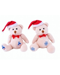 12 x Plush Embroidered Christmas Teddy..