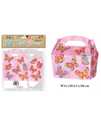 10 x Butterfly Party Treat Boxes 10 pk