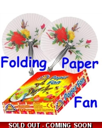 24 x Paper Chinese Fans