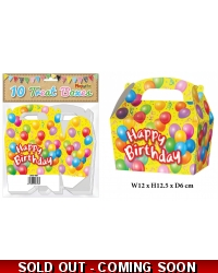 10 x Happy Birthday Party Treat Boxes ..