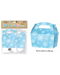 10 x Snowflake Party Treat Boxes 10 pk