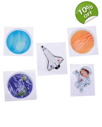 72 x Puffy Space Stickers