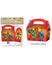 10 x Super Hero Party Treat Boxes 10 pk