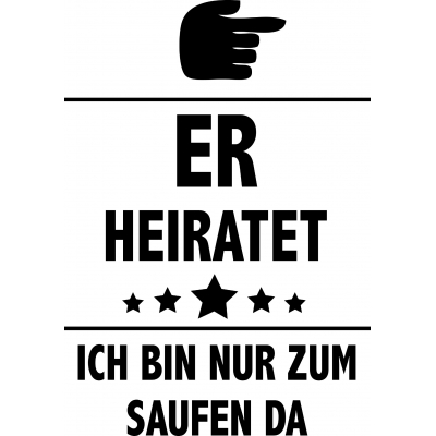 Er heiratet - Zeigefinger