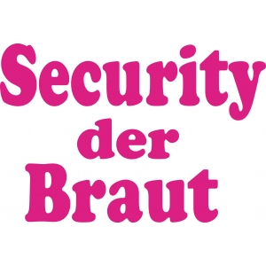 Security der Braut plain