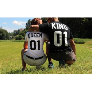 King oder Queen Couple Shirt