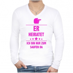 Er heiratet Longsleeve