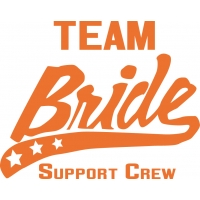 Team Bride - Support Crew Neonorange