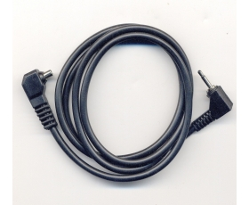 1 metre Male pc sync to right angled 2.5mm mono jack cord