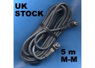 5 m MALE MALE pc sync sincro lead cord