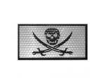 Pirate reflective Velcro patch