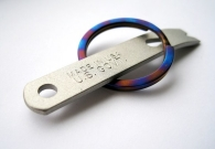 Anodized Titanium Split Ring