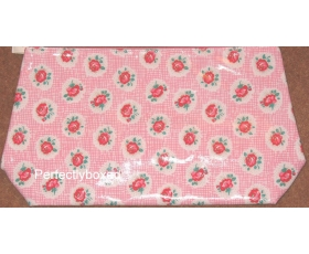 Cath Kidston Washbag Lattice Rose Pink Oilcloth Toiletry