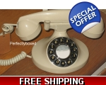 GPO Pearl 1922 Telephone Ivory Cream Black Push..