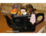 Aga Style Sunday Lunch Roast Teapot Black ceramic