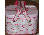 Greengate Picnic Tins Cherry Pink Floral Vintage..