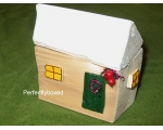 Rustic Log Cabin Christmas Ornament Berry