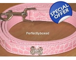 Dog Lead Leash Pink Diamonte Bling