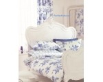 Floral Roses Duvet Cover Set Double Blue Toile ..
