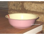 Enamel Wash Bowl Pink Cre..