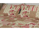 Patchwork Quilt Double Pink Cream + 2 shams Laur..