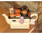 Aga Style Baking Day Teapot Cream Ceramic