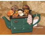Aga Style Sunday Lunch Roast Teapot Green ceramic