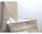 Duvet Cover Set White Sand Picotting Double Per..