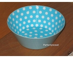 Melamine bowl blue polk..