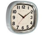 Blue Refectory Wall Clock Retro
