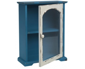 Vintage Blue Retro Storage Cabinet Kitchen Bathroom
