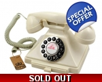 GPO Carrington Ivory 1929s Telephone Cream Push..