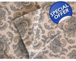 Duvet Cover Paisley Blue Double incl 2 oxford pi..