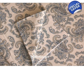 Duvet Cover Paisley Blue Super King incl 2 oxford pillowcases