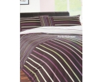 Purple Stripe Double Duvet Cover Funky 70s Retro