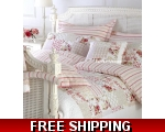 Pink Red Yellow Stripe Single Duvet Cover Set Sa..