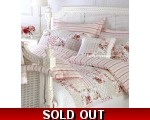 Pink Red Yellow Stripe Double Duvet Cover Set Sa..
