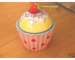 Cupcake Trinket Pot Straw..