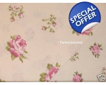 Duvet Covers Set Floral Roses Pink Cream Super K..