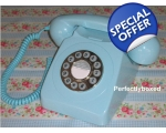 GPO 746 Baby Blue Telephone 1970s Push Button C..