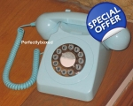 GPO 746 Baby Blue Telephone 1970s Push Button Co..