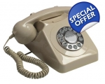 GPO 746 Ivory Telephone 1970s Cream Push Button..