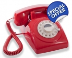 GPO Red Dial Telephone 19..