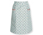 Greengate Half Apron Betty Dark Mint Vintage Flo..