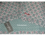 Greengate Quilt Betty Dark Mint Single 140 x 220..