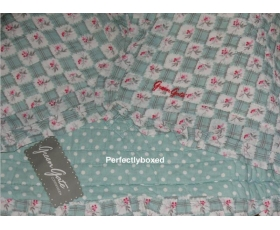 Greengate Quilt Betty Dark Mint Single 140 x 220 Green Floral