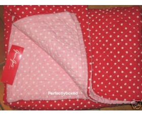 Greengate Quilt Naomi Red Double pink red polka dots